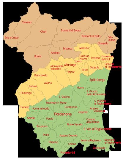Cartina Del Veneto E Friuli.Il Territorio Pordenone With Love